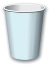 Creative Converting 56157B Pastel Blue Solid 9 Oz Hot/Cold Cup (Case of 240)