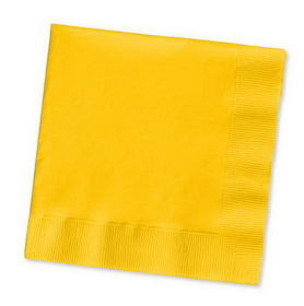 Creative Converting 571021B School Bus Yellow Beverage Napkin, 3 Ply, Solid (10pks Case)