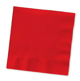 Creative Converting 571031B Classic Red Beverage Napkin, 3 Ply, Solid (10pks Case)