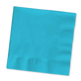 Creative Converting 571039B Bermuda Blue Beverage Napkin, 3 Ply, Solid (10pks Case)