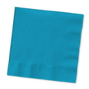 Creative Converting 573131B Turquoise Beverage Napkin, 3 Ply, Solid (Case of 500)