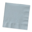 Creative Converting 583281B Shimmering Silver 3-Ply Lunch Napkins (Case of 500)