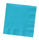 Creative Converting 591039B Bermuda Blue Dinner Napkin, 3 Ply, 1/4 Fold Solid (Case of 250)