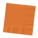 Creative Converting 59191B Sunkissed Orange 3-Ply Dinner Napkins (Case of 250)