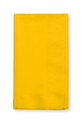 Creative Converting 671021B School Bus Yellow Dinner Napkin, 2 Ply, 1/8 Fold Solid (Case of 600)