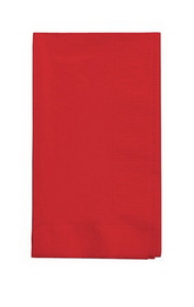 Creative Converting 671031B Classic Red Dinner Napkin, 2 Ply, 1/8 Fold Solid (12pks Case)