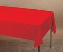 Creative Converting 711031 Classic Red Tissue/Poly 54x108 Tablecover (Case of 6)
