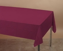 Creative Converting 723122 Burgundy Plastic Tablecover 54 X 108 Solid (Case of 12)