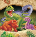 Creative Converting 725012 Dino Blast Plastic 54x108 Tablecover (Case of 6)