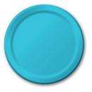 "Creative Converting 791039B Bermuda Blue 6.75"" Lunch Plates (Case of 240)"