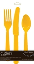 Creative Converting 813269 School Bus Yellow Cutlery Assortment (Case of 216)