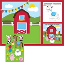 Creative Converting 865506 Farmhouse Fun Placemat Activity w/ Stickers (Case of 96)