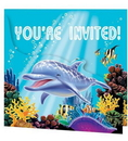 Creative Converting 895325 Ocean Party Gatefold Invitations (Case of 48)