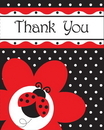 Creative Converting 899019 Ladybug Fancy Thank You's (Case of 48)
