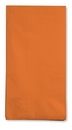 Creative Converting 95191 Sunkissed Orange 3-Ply Guest Napkins (Case of 192)