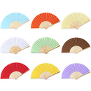 Aspire Paper Hand Fans, DIY Folding Fans with Bamboo Ribs, Gift Favor