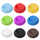 Aspire 6 Pcs Silicone Drinking Lid Spill-Proof Cup Lids Reusable Coffee Mug Lids Coffee Cup Covers