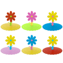 Aspire 6 Sets Silicone Cup Lids Anti-dust Leak-proof Mug Cover Flower Design