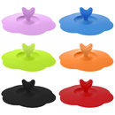 Aspire 6 Pcs Silicone Drink Cup Lids Heart Shaped Airtight Seal Cup Cover