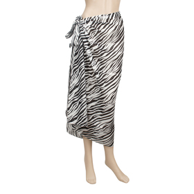 TopTie Swimwear Cover-up Sarong - Animal Zebra Print