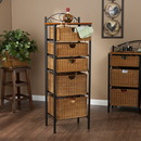 Holly & Martin 53-149-078-3-01 Argyle Iron/Wicker Five-Drawer Unit