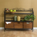 Holly & Martin 59-195-006-6-16 Petaluma 3-Drawer Baker's Rack