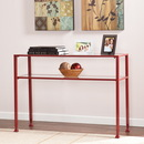 SEI CK2773 Metal/Glass Console Table - Red