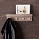 SEI HZ3497 Wall Mount Shelf w/ Hangers, Dark Oak, 15.75
