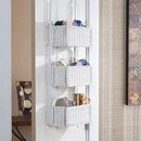 SEI HZ5233 Over-The Door 3-Tier Basket Storage - White