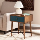 SEI OC0316 Norwich Accent Table - Blue Finish