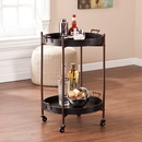 SEI OC2087 Two-Tier Round Butler Table