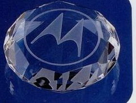 "2-3/4""x3/4"" Optical Crystal Octagon Paperweight (Screened), Price/piece"