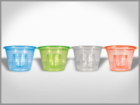 Disposable Plastic Double Shot Glass, Price/piece