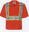 Viking Journeyman Safety V Neck T-Shirt in Fluorescent Orange