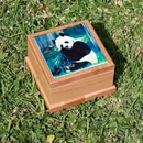 Custom Full Color Sublimation Red Alder Wooden Pet Urn Box With Tile Top, Size La, 5.75