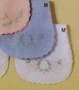 Baby Boutross Linen Burp Pad With Madeira Wreath