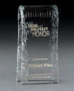 Custom Large Arched Reflections Crystal Award