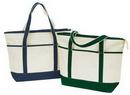 Custom Zipper Canvas Tote Bag (22