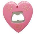 Custom Heart Shape Bottle Opener with Magnet