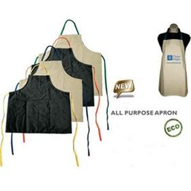 Eco Friendly All Purpose Aprons w/ Yellow Strap (Screen printed), Price/piece