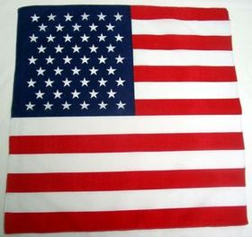 100% Cotton USA Flag Bandanna, Price/piece
