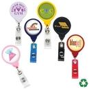 Custom Jumbo Round Retractable Badge Reel (Label Only)