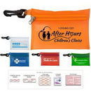 Custom On the Go First Aid Kit #2 w/ Translucent Vinyl Zipper Pouch