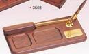 Custom Wood Tray Pen Holder w/ Letter Opener/ Pen (Screened)