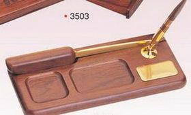 Wood Tray Pen Holder w/ Letter Opener/ Pen (Screened), Price/piece