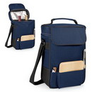 Custom Duet 600D Polyester Insulated Wine & Cheese Tote Bag (2 Bottle)