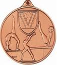 Custom 400 Series Stock Medal (Female Gymnastics) Gold, Silver, Bronze