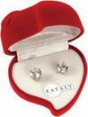 Custom Cubic Zirconia Earrings w/ Heart Case