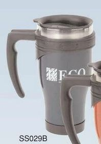 16 Oz. Color Coated Stainless Steel Mug (Screened), Price/piece