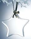 Custom Beveled Jade Glass Ornament - Star (Sandblasted), 3.75